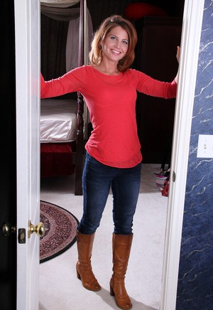 Milf in jeans and boots